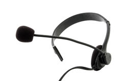 Headset - headphones and microphone Royalty Free Stock Photos