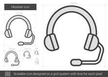 Headset line icon. Stock Photos