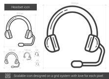 Headset line icon. Stock Photo