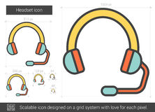 Headset line icon. Royalty Free Stock Images