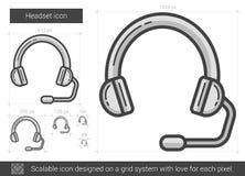 Headset line icon. Royalty Free Stock Photo