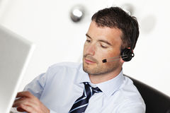 Headset man Stock Images