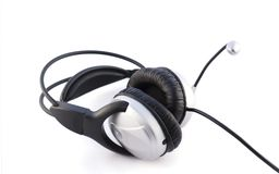 Headset and microphone Royalty Free Stock Photography