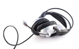 Headset and microphone Stock Images