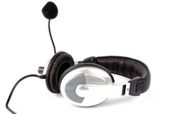Headset and microphone  Royalty Free Stock Photos