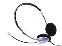 Headset with a microphone. Royalty Free Stock Photography