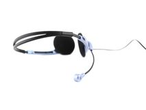 Headset with a microphone. Royalty Free Stock Images