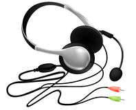 Headset with microphone Royalty Free Stock Photography