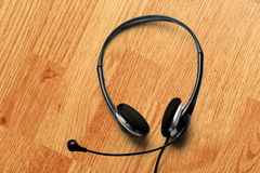 Headset with microphone Stock Images