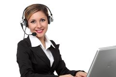 Headset Operator Royalty Free Stock Photos