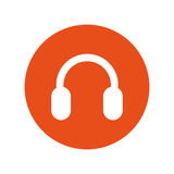 Headset sound device isolated icon Royalty Free Stock Photo