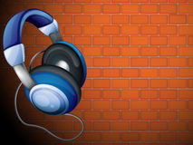 A headset beside the wall Stock Photography