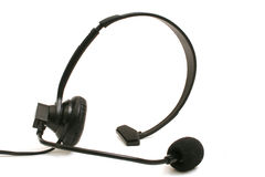 Headset on white Stock Photography