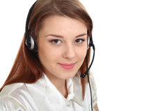 Headset woman from call center Royalty Free Stock Images