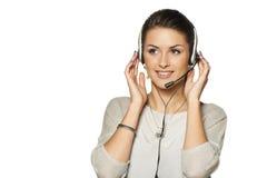 Headset woman call center operator Royalty Free Stock Photos