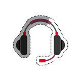 Headsets gaming device Stock Images