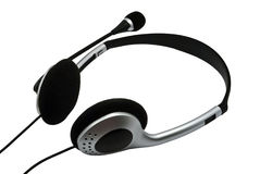 Headsets with a microphone Royalty Free Stock Photos