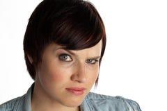 headshot妇女年轻人 库存图片