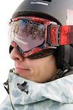 Headshot του snowboarder Στοκ Φωτογραφία
