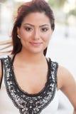 一个美丽的女性的Headshot 免版税库存图片