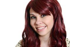 Headshot adolescente principal rojo feliz Fotos de archivo