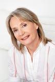 Headshot of attractive senior woman Royalty Free Stock Photography