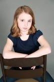 Headshot av flickan med fräknar Royaltyfria Foton
