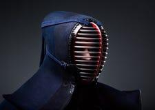 Headshot av kendokaen i män Arkivbild