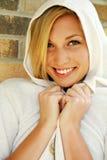 Headshot av nätt teen model le Royaltyfri Foto