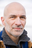 Headshot of a bald man Stock Photo