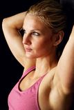 Headshot of Beautiful Fitness Model Stock Image