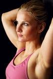 Headshot of Beautiful Fitness Model stock image