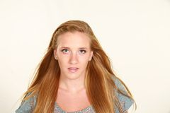 Headshot of beautiful girl with blonde hair Royalty Free Stock Images