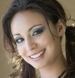 A headshot of a beautiful smiling woman Stock Photos
