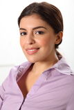 Headshot of beautiful smiling young business woman Royalty Free Stock Photos