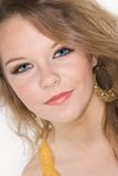 Headshot of Beautiful Teenager with Makeup Royalty Free Stock Images