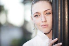 Headshot of a beautiful woman Royalty Free Stock Photography