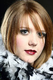 Headshot of a Beautiful Woman Stock Images