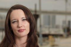 Headshot of a beautiful woman Stock Photography