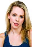 Headshot of beautiful young blonde woman Stock Image