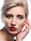 Headshot of a blond model Stock Photography