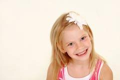 Headshot blondynki mała dziewczynka Fotografia Stock