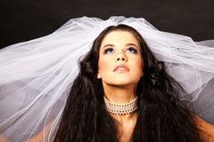 Headshot of bride Royalty Free Stock Photo