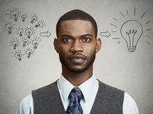 Headshot business man has an idea Stock Image