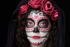 Headshot of catrina skull royalty free stock photo