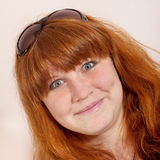 Headshot of cheerful redhead Royalty Free Stock Image