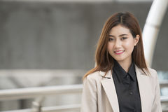 Headshot of cute asian businesswoman Stock Image