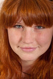 Headshot of cute redhead Stock Photography