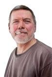 Headshot d'homme sans foyer mûr Image libre de droits
