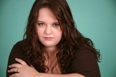 Headshot da menina bonita do excesso de peso Imagem de Stock Royalty Free